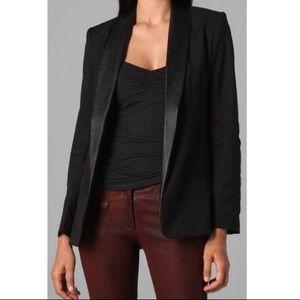 BB Dakota Black Ellis Blazer w  Leather Collar Sz4